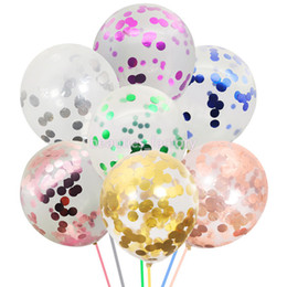 Balloon Birthday cakes online shopping - 50Pcs Golden Paper Confetti Dots Balloons Party Wedding Anniversary Decoration Multi Colors Silver Rose