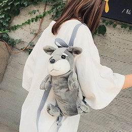 woman plush toy boy NZ - 2019 New Plush Toys Double Shoulder Bags Cute Cartoon Animal Children Girls Boys Crossbody Bag Kids Christmas Gifts Mochila#H15