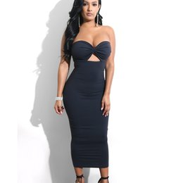 Wholesale 2019 New Women s Clothes Summer Sexy Wrapped Chest halter Dress Slim High Waist Long Bandage Skirt