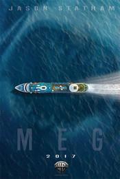 Adventure Figure NZ - Sci-fi Adventure The Meg Movie wall decor Art Silk Print Poster 88