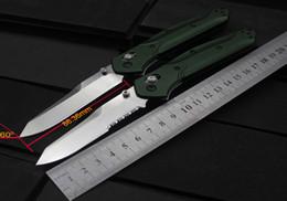 "benchmade knives 2019 - Benchmade 940 Osborne Folding Knife 3.4"" S30V Satin Plain Blade, Green Aluminum Handles"