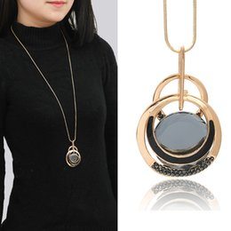Necklaces Pendants Australia - Women's Long Necklace Fashion Atmospheric Model Clothing Hat Accessories Clothing Accessories Factory Direct Sales Free Freight