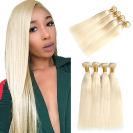 honey blonde weave bundles 2019 - 613 Blonde human hair weave Indian straight human Hair 3 Bundles 100% Honey Straight human hair extension Non Remy cheap