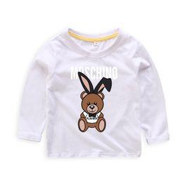 Kids Girls Tee Shirts Australia - hot New Children Print Cut T-shirt Clothing For Kids Autumn Tee Tops Costume Baby Boy Girls Shirt cute bear Clothes