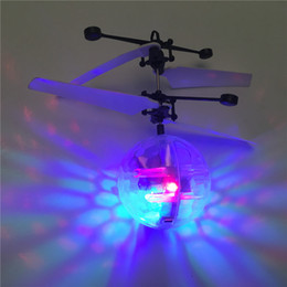Discount helicopter remotes - RC Toys Flying Ball Helicopter LED Lighting Sensor Suspension Remote Control Aircraft Flashing Whirly Ball Built-in Shin
