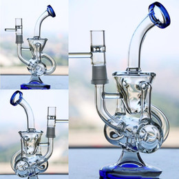 $enCountryForm.capitalKeyWord NZ - Double Recycle Glass Bongs With Bowl Dab Riges Two Fuction Bongs Water Pipes Percolators Ready To Sent Cheap Hookahs Joint Size 14.4mm