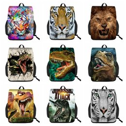 animal lions Australia - 3D animal pattern 3D backpack Men and women Large capacity tiger crocodile lion pattern Creative student backpack handbag--101