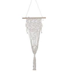 Discount rooms tapestries - 1Pcs 110X35Cm Tassel Weaving Hanging Bohemian Handmade Fdit Tapestry Tassel Flower Pot For Home Decor Living Room Weddin
