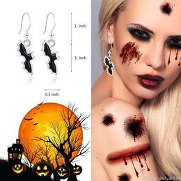 Cosplay earrings online shopping - Punk Halloween Pumpkin Bat Spider Drop Earrings BOO Letters Dangle Earrings Cosplay Party Jewelry Accessories Gifts For Women Ladies