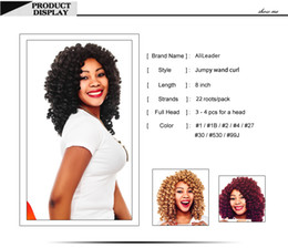 $enCountryForm.capitalKeyWord Australia - Golden Beauty 8inch Jumpy Wand Crochet Braids Hair Ombre Synthetic Jamaican Bounce Curl Crochet Hair Extensions for Women