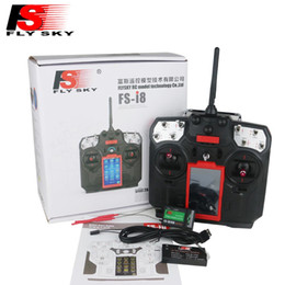 rc fixed wing drones Australia - FLYSKY FS-i8 8CH 2.4GHz AFHDS 2A LCD Screen RC Transmitter with iA6B iA10B Receiver for Fixed-Wing Glider RC Drone Helicopter