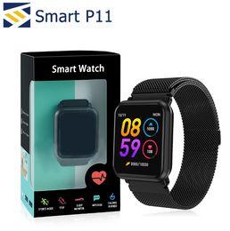 Remote alaRms online shopping - P11 Smart Bracelet Smartwatch Waterproof Heart Rate Blood Pressure Monitor Sport Bracelet Fitness Tracker Band Alarm Clock
