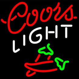 $enCountryForm.capitalKeyWord Australia - Neon Sign Coors Light Two Chili Pepper Neon Light Real Glass Lamp for Home Bedroom Pub Hotel Beach Recreational Game Room Decor