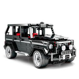 $enCountryForm.capitalKeyWord Australia - 1343pcs Children's Building Blocks Toy Compatible City Technic Mercedes-benz Big G Car Model Bricks Boy Birthday Gifts J190719