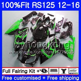 Rs 125 abs faiRing kit online shopping - Injection OEM For Aprilia RS RS125RR RS4 HM Green black RSV125 RS RS125 Fairing kit