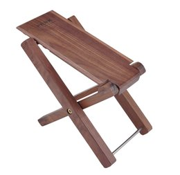 Acoustic Pedal Australia - Guitar footstool pedals, 4 levels of adjustable height, black walnut, mahogany pedals, solid wood pedals for classical guitars