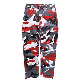 $enCountryForm.capitalKeyWord UK - Fashion Brand Sweatpants for Mens Pants Sports Camouflage Military Overalls Button Loose Trousers Clothing S-3XL