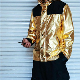 metal swimsuits Australia - 18SS liquid metal jacket gold silver rose gold metal men and women couple outdoor jacket mens designer jackets swimsuit