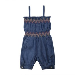 585ab9e9a0eb Summer Toddler Kids Girls Strap Denim One-piece Romper Little Girl Jumpsuit  Playsuit Clothes