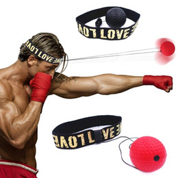 Großhandel Boxing Reflex Speed ​​Ball mit Stirnband Mma Muay Thai Fight Ball Übung zur Verbesserung der Geschwindigkeitsreaktionen Punch Boxing Training