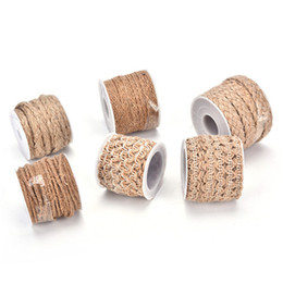 $enCountryForm.capitalKeyWord UK - Festival Scrapbooking 6 Styles 5M DIY Craft Wedding Party Burlap Ribbon Vintage Natural Hessian Jute Twine Rope Decor Home Spool