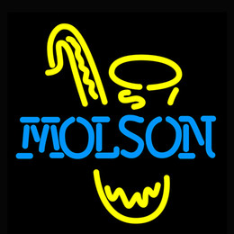 Bulb Case Australia - Man Case Molson Saxophone Neon Sign Light Handmade Visual Artwork Beer Bar Pub Wall 17*14 Inch