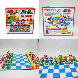Red toy boxes online shopping - Super Mario Bros Chess PVC Action Figures Toys cm Kids Toy Gifts With Color Box