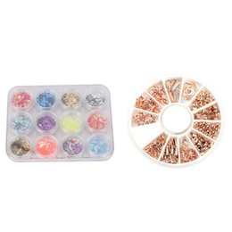 Nail acrylic 24 online shopping - ABVP Nail Art Decoration DIY Accessory Rose Gold Studs Shell Beads Alloy D Manicure Colors Acrylic U