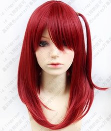 Wholesale magic girl cosplay for sale – halloween Magi The Labyrinth of Magic Morgiana Wine Red Cosplay Wig