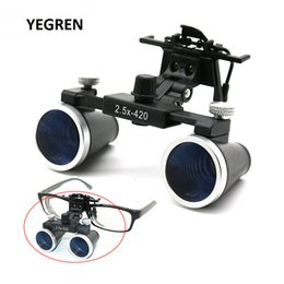 Wholesale 2.5X 3.5X Dental Loupes Binocular Magnifying Glass Galilean Medical Magnifier Coated Optical Lens with Clip f  Dentist Surgical T200521