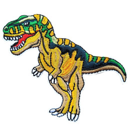 $enCountryForm.capitalKeyWord UK - Carnivorous Dinosaur Embroidery Patches For Clothing Sewing Iron On Tyrannosaurus Rex Patch DIY Badge Jeans Garment Jacket Bag Decoration