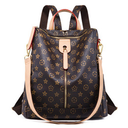 42081ec9a2 Retro older-flower backpack women of the fall and winter 2018 new European  and American fashion one-shoulder slung travel large capacity bag