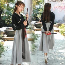 85829a623ea3 Vintage Chinese Style Classical Sweet Lolita Hanfu Tops+skirt Dress Mori  Girl Embroider Retro Asian Style Hanfu Long Dress