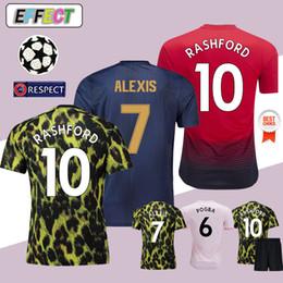 2018 FC Manchester United POGBA Man Soccer Jerseys 2019 LUKAKU RASHFORD  MATA Alexis FRED MATIC Equipo de fútbol Camiseta de fútbol de alta calidad  18 19 ... ecaa665649682