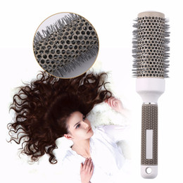 $enCountryForm.capitalKeyWord Australia - Round Comb Hair Dressing Curly Combs Round Hair Brush Salon Styling Durable Ceramic Iron Enhance The Stretch of Hair Roots