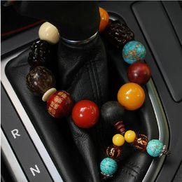 $enCountryForm.capitalKeyWord Australia - Car Hanging Pendant Car Gear Beads Bodhi Peacewood Beads Rearview Suspension Interior Decoration Chinese Style Auto Ornament
