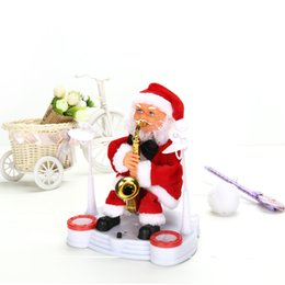 dance christmas ornament UK - Happy Christmas ornament Electric Dancing Music Santa Claus Doll Xmas Party Baby Kids Gifts Home Decoration Crafts A60