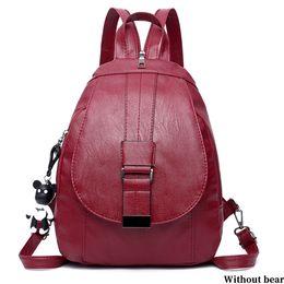 $enCountryForm.capitalKeyWord NZ - Fabala Detachable Buckle Casual Shoulder Bag School Style Shopping Adjustable Strap PU Travel Hangbag Women Backpack 2 Colors