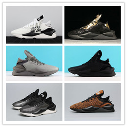 Badminton Y3 NZ - 2019New High Quality Y-3 Kaiwa Chunky Men Women Casual Shoes Luxurious Fashion Black white gold leopard Y3 Boots Sneakers Size 36-45