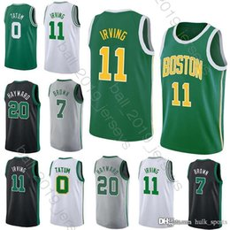 Brown tracksuits online shopping - 11 Irving jersey Celtic jerseys Tatum Brown Hayward Hot Sale men High quality tracksuit jerseys