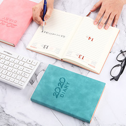 notebook portable UK - Notebook Portable 2020 Agenda A5 Diary Bullet Journal Weekly Monthly Planner School Supplies Stationary Organizer Schedule Book Free Ship