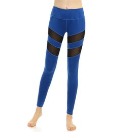 Lycra Leggings Plus Size Australia - Leggings for Women Fitness Plus Size Sports Yoga Pants Sexy Hollow Leggings Tight Trousers Mesh Size S-3XL
