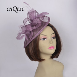 165b90c13ce4a NEW Lavender purple feather sinamay fascinator formal derby hat in SPECIAL  shape for weddings