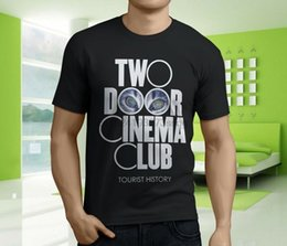 tür s großhandel-Neue populäre Two Door Cinema Club Tourist History Mens Black T Shirt S XL