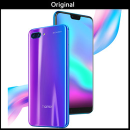 Wifi Android Glasses Australia - Original Huawei Honor 10 Android 8.0 4G LTE Smartphone 3D Curved Glass Kirin 970 AI Processor 5.8 Inch 24MP Camera