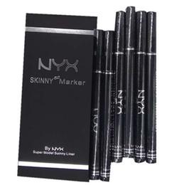 Dark brown eyeliner pencil online shopping - NYX Cosmetics Black Liquid eye liner Skinny Maker Eyeliner Pen delineador de ojos Eyebrow Pencil Maquillaje