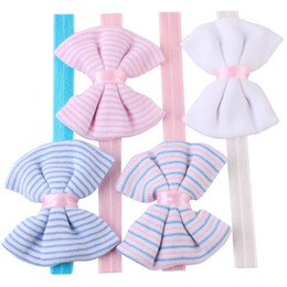 Cute headband bows for babies online shopping - Fashion stripe bow hairband cute baby boy girls kids headband children hair accessories for different styles