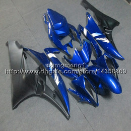 Yamaha Yzf R6 Cover Australia - Gifts+Screws Injection mold blue motorcycle cover for Yamaha YZF-R6 2006-2007 06 07 YZFR6 ABSmotor Fairing