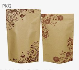 kraft paper zipper foil Australia - 100pcs Wholesale Small Ziplock Bag Kraft Paper Stand Up Bag Aluminum Foil Zipper Bag Storage Pouches Resealable Packaging Bags