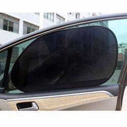 Block Protection Australia - Car-styling 2Pcs Car Rear Window Side Sun Shade Cover Block Static Cling Visor Shield Screen